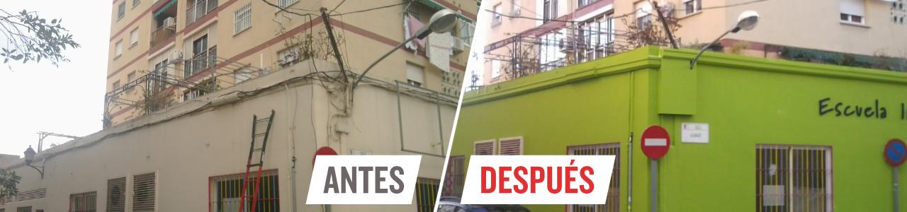 Canaleta para ocultar cables en fachadas exterior