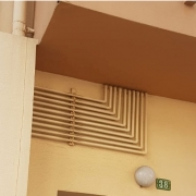 Tubos de agua en fachadas