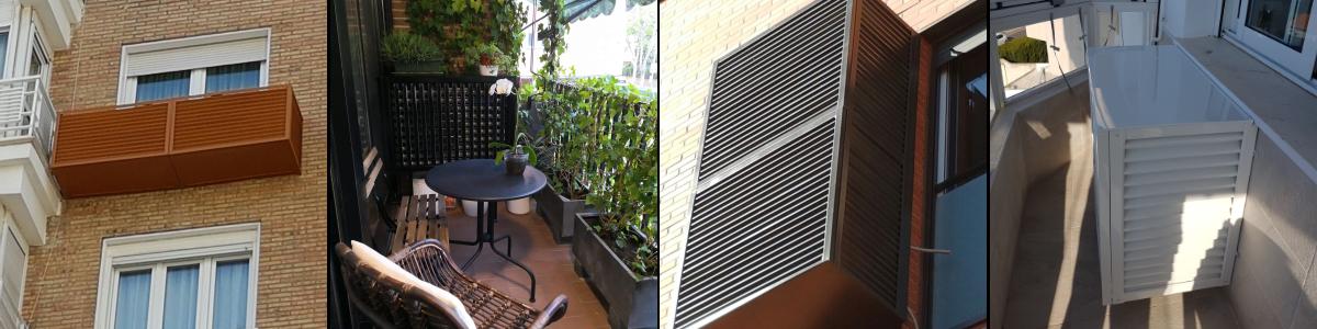 Cubiertas de aluminio para equipos de aire acondicionado