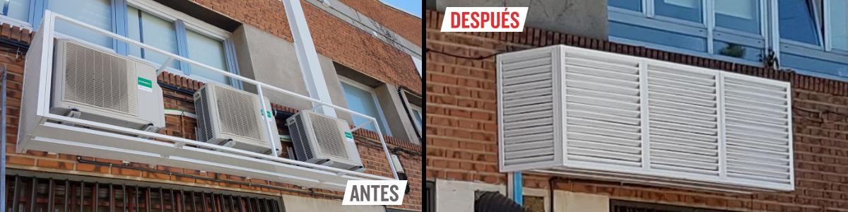 Cubiertas modulares para aires acondicionado
