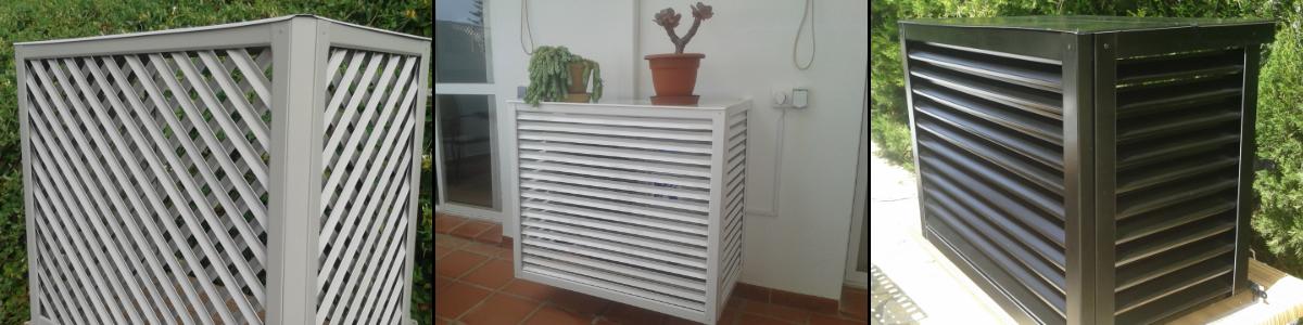 Cubrir aire acondicionado en patios