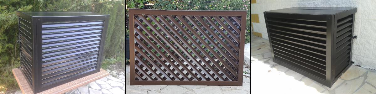 Ocultar aire acondiconado con aluminio
