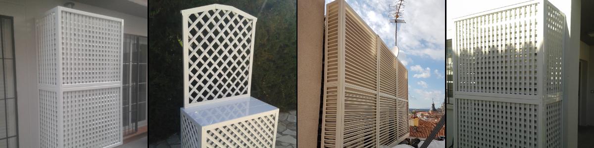 Tapaaire de aluminio para exteriores